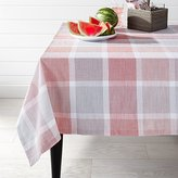 Crate & Barrel Sorbet Plaid Tablecloth