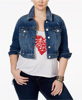 SLINK Jeans Plus Size Tabria Wash Cropped Denim Jacket