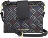 Liz Claiborne Double Top-Zip Crossbody Bag