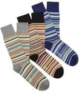 Paul Smith Pack Of Three Striped Socks