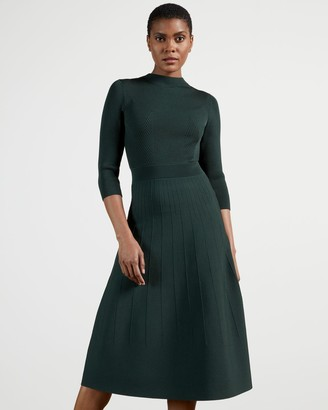 Ted Baker High Neck Knitted Midi Dress