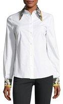 Dolce & Gabbana Poplin Blouse, White