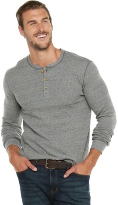Sonoma Goods For Life Big & Tall Slim-Fit Thermal Henley