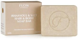 Flow Cosmetics Rhassoul & Salt Hair & Body Soap Bar For Sensitive Scalp & Skin