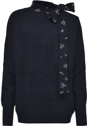 Pinko Embellished Tie Detail Jumper