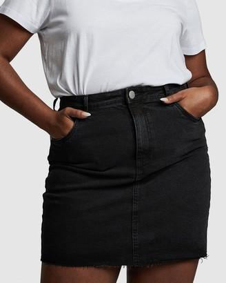 Cotton On Curve - Women's Black Denim skirts - Curve Denim Mini Skirt - Size 16 at The Iconic