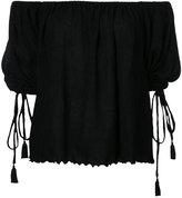 G.V.G.V. Yoryu chiffon off shoulder blouse - women - Polyester/Polyurethane/Tencel - 34