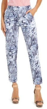 Hue Zebra-Print Temp Tech Trousers, Extended Sizes