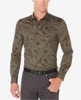 Perry Ellis Men's Large Paisley Sateen Shirt