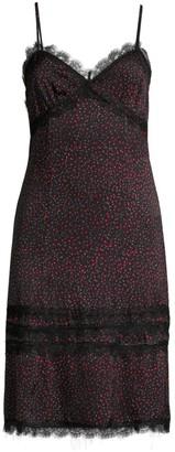 Kiki de Montparnasse Stretch Silk Print Slip Dress