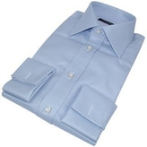 Forzieri Portofino Handmade French Cuff Baby Blue Dress Shirt