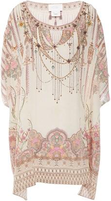 Camilla Crystal-embellished Printed Silk Crepe De Chine Kimono