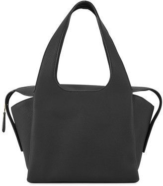 The Row TR1 black leather shoulder bag