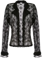 Chanel Pre Owned sheer lace cardigan