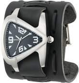 Nemesis Watch Nemesis Men's WXB011K Signature Stainless Steel Teardrop Dial Leather Cuff Watch