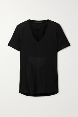 Helmut Lang Cutout Modal-jersey T-shirt - Black