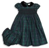 Ralph Lauren Baby's Two-Piece Silk Taffeta Plaid Dress & Bloomers Set