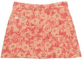 Bonpoint Abstract Floral Tweed Skirt, Pink, Size 4-8