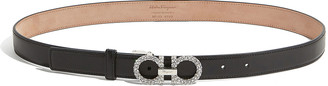 Salvatore Ferragamo Strass Gancini-Buckle Leather Belt