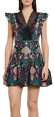 Sandro Iveane Floral Print Mini Dress