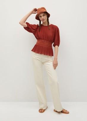 MANGO Elastic waist blouse