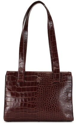 Versace Pre Owned Medusa crocodile embossed tote