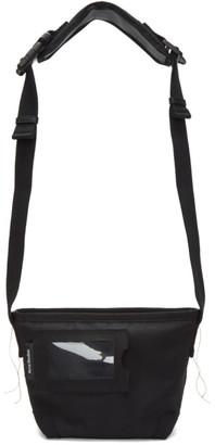 Acne Studios Black Canvas Messenger Bag