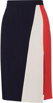 Tanya Taylor Gigi color-block herringbone stretch-crepe skirt