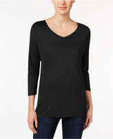 Calvin Klein Jeans Colorblocked Three-Quarter-Sleeve Top