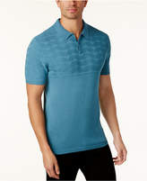 Alfani Men's Classic-Fit Geo Colorblocked Polo, Created for Macy's
