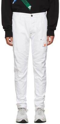 DSQUARED2 White Canvas Jeans