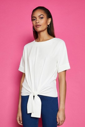 Coast Short Sleeve Tie Front Top