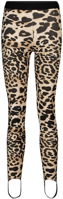 Paco Rabanne Leopard-print stirrup leggings