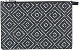Salvatore Ferragamo chevron detail clutch bag - men - Calf Leather - One Size