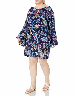 Anne Cole Women's Plus Size Tunic Cover Up Dress