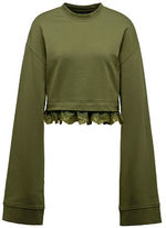 Puma FENTY x PUMA Cropped Long Sleeve Sweater with Lace Trim