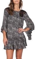 Volcom 'Whiskey Mountain' Print Crochet Trim Dress