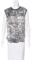 Helmut Lang Sleeveless Abstract Print Top
