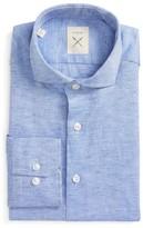 Men's Strong Suit Trim Fit Solid Cotton & Linen Dress Shirt