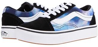 Vans Kids ComfyCush Old Skool (Little Kid) ((Galaxy) Black/True White) Kid's Shoes