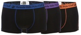Beverly Hills Polo Club Black Pack Of Three Hipster Trunks
