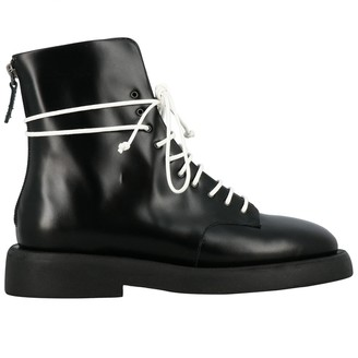 Marsèll Gommello Boots In Leather With Rubber Sole