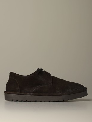 Marsèll Brogue Shoes High Sancrispa Derby In Suede Reverse Leather