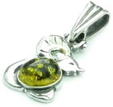 Amber Lovely 925 Sterling & Baltic Amber Designer Pendant K311