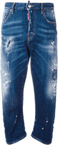 DSQUARED2 Kawaii whiskered distressed jeans - women - Cotton/Polyester/Spandex/Elastane - 38