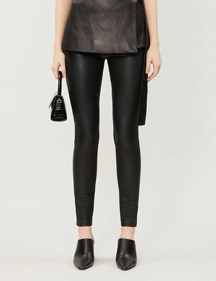 Reiss Valerie leather trousers