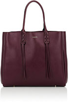 Lanvin Women's Tassel-Handle Extra-Large Shopper-BURGUNDY