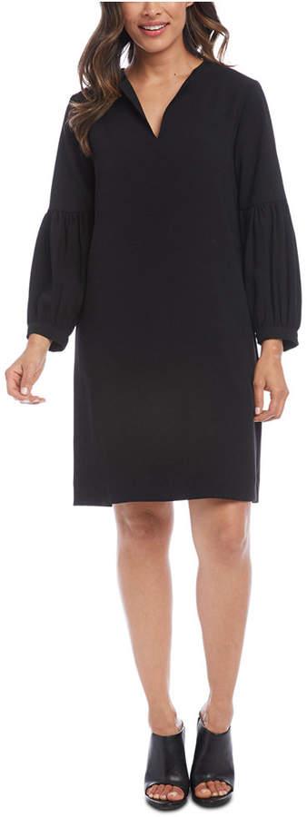 Karen Kane Blouson-Sleeve Shift Dress