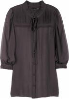 Demi-sheer blouse