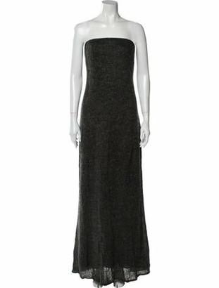 Carmen Marc Valvo Strapless Long Dress Black